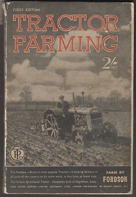 Lovely WWII Rare 1st Edition Tractor Farming Booklet