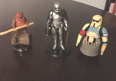 Lot of 3 Star Wars Collectible Figures