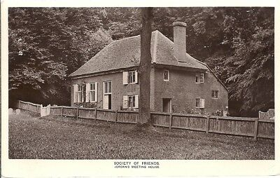 Rare Old Real Photo Postcard - Jordan's Meeting House - Chalfont St Giles 1911