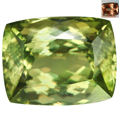 20.16Ct IF GIA Certified Cushion Cut 17 x 13mm AAA Color Change Turkish Diaspore