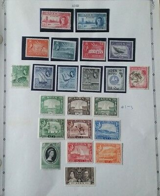 Lot of Aden Old Stamps MNH/MH/Used
