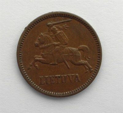 Lithuania 1936 5 Centai Nearly Uncirculated Km#81