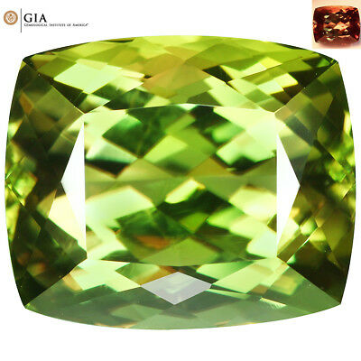 "29.97Ct IF ""GIA"" Certified Cushion 18x15 AAA Full Color Change Turkish Diaspore"