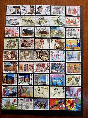 GB Selection COMMEMORATIVES Part/Full Circular Frankings 1982-1991  - 45 stamps