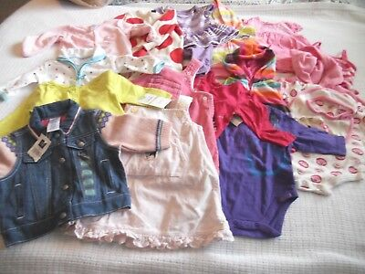 15 pc GIRLS CLOTHING LOT FALL/WINTER~CARTER'S,GAP,CHILDRENS PLACE++~SIZE 0-6 MON