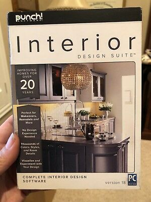 Punch! Interior Design Suite Version 18 for Windows PC Software Brand New Sealed