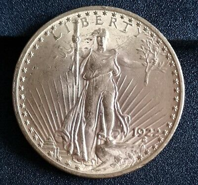 20 Twenty Dollars 1922 USA St. Gaudens Double Eagle Gold Münze 900 ‰  33,460 gr.