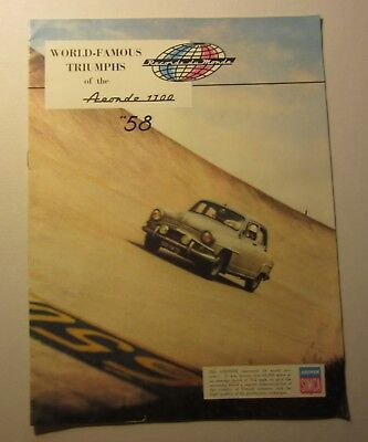 Old Vintage 1958 World Famous Triumphs ARONDE 1300 - Auto Advertising Booklet