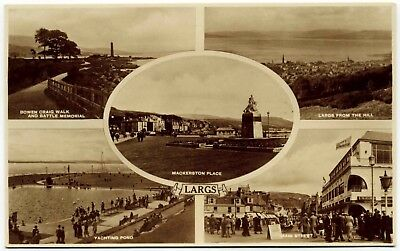 Early Real Photo Postcard . Views Of Largs . Scotland