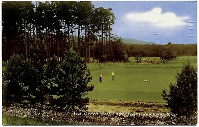 Vintage Postcard . 3Rd Green . Grantown On Spey Golf Course . Scotland . P/u1965