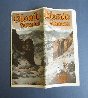 Old Vintage 1921 Santa Fe Railway - COLORADO SUMMER - Travel Brochure