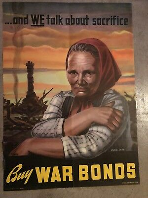 "WW2 ""Buy War Bonds"" Original Poster"
