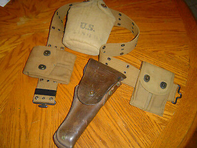 Ww1 -Us Belt -With- Holster -Mag Pouches - Canteen