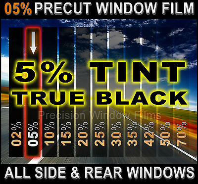 PreCut All Sides & Rears Window Film Black 5% Tint Shade VLT for Ford Cars Glass
