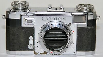 Contax IIa Black Dial 1952 35mm Rangefinder Body Only AS IS
