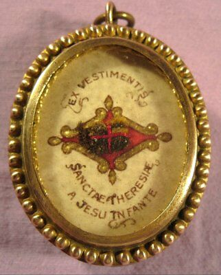 Ornate Theca Case With A Relic Of St.therese Of The Child Jesus
