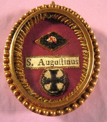Antique Theca Case With A Relic Of St. Augustine Of Hippo