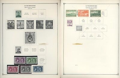 Luxembourg Scott International Album Page Lot #87 - SEE SCAN - $$$