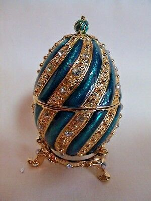 Atlas Editions Decorative Egg. Faberge Inspired. SWIRL. Boxed. [006]