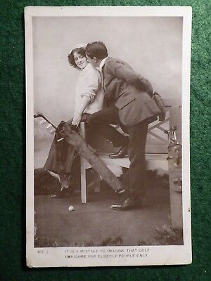 Romantic Golf Postcard From 1911.  Shenley RP.