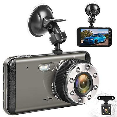 """Effort Dual Dash Cam HD Front And Rear,H3 Night Vision Car Camera,4"""" IPS Screen"""