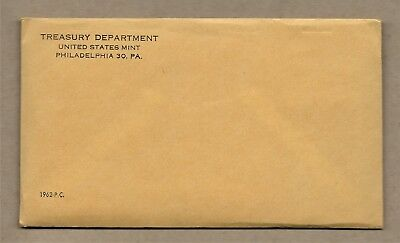 1962 United States Mint 5-Coin Silver Proof Set Sealed In Mint Envelope