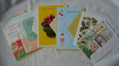 Lot of 7 New Thank You Greeting Cards with Envelopes Tender Thoughts Dynamic