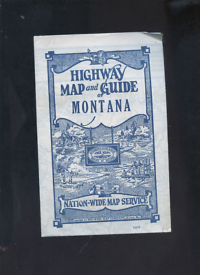 circa 1931  Highway map and Guide of Montana, MT, car, auto