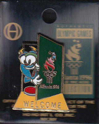 Rare Pins Pin's .. Olympique Olympic Atlanta 1996 Mascotte Welcome ~14