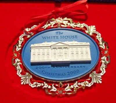 2000 White House Christmas Ornament Historical Association With Box & Booklet