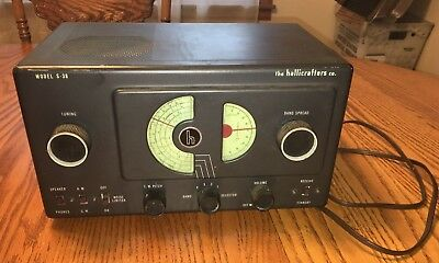 Vintage Hallicrafters Model S-38 Shortwave HAM Radio BaseStation Tube Receiver