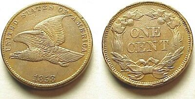 A/u 1858 Flying Eagle Cent-S/l-Sharp & Very Attractive! Free Shipping!