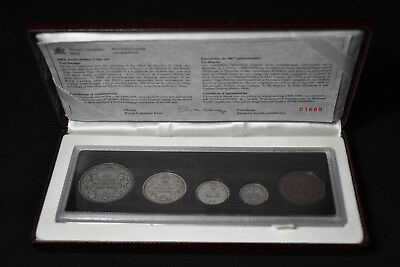 1998 Canada, Royal Canadian Mint 90Th Anniversary, Antique Finish Specimen Set