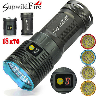 18X XML T6 LED Hunting Tactical Flashligt 4X18650 Torch Bright Hunting Torch