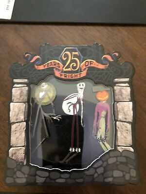 Disney Nightmare Before Christmas 25 Years Of Fright 3 Pin Set LE 1500 Jack