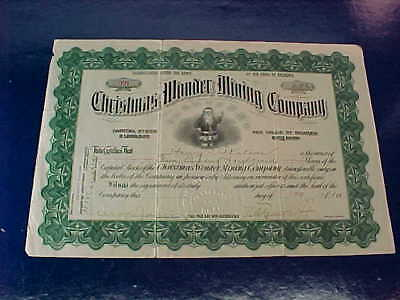 Orig 1907 STOCK Certificate CHRISTMAS WONDER MINING Co Nevada w SANTA CLAUS