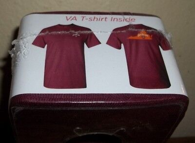 NEW Jim Beam Virginia State T-Shirt 2017 Maroon Bourbon/Whiskey    MINT IN CUBE
