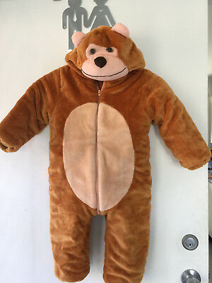 Childs teddy bear one piece dress up costume size 110 cm (misc1)