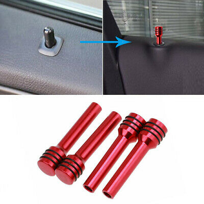 4x 50mm Red Billet Aluminum Interior Door Lock Knobs Pins for Car Truck Hot Rod