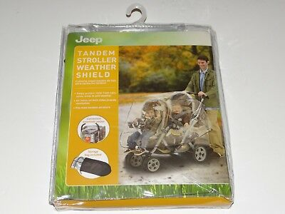 JEEP Tandem Double/Twin Stroller WEATHER SHIELD Ventilated Rain Cover BRAND NEW