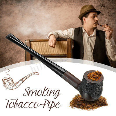 High-ended Ebony Wooden Man Smoking Pipe Tobacco Cigarettes Cigar Pipes Gift AU