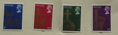 GREAT BRITAIN SET OF 4 MINT STAMPS - 25th ANNIVERSARY OF CORONATION - 1978