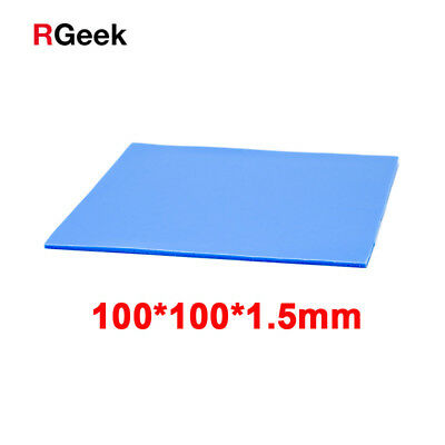 100*100*1.5mm Thick GPU CPU Heatsink Cooingl Conductive Silicone Thermal Pad