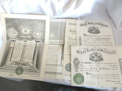 5 Masonic Certificates Awarded To Fred Blick & Stanley Humphreys  (30)