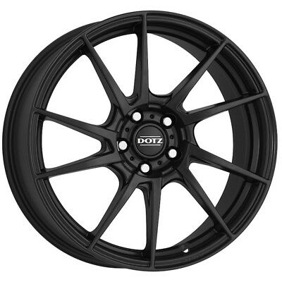 17 Inch Riva Dtm 4x100 Et42 7j Black Alloy Wheels Acura Integra