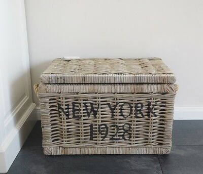 "Originelle Truhe Rattantruhe ""new York"" In Koboo Grey"