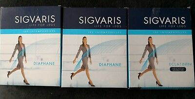 Sigvaris  3 Bas Auto Fixants Compression Classe 2, X Large Long 3 Couleurs Neuf