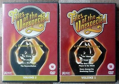 TALES OF THE UNEXPECTED x2 DVD set UK Region