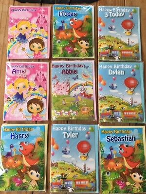 Named Childrens Birthday Cards 98 Names OR Ages FREE PP Greetings Card Kids