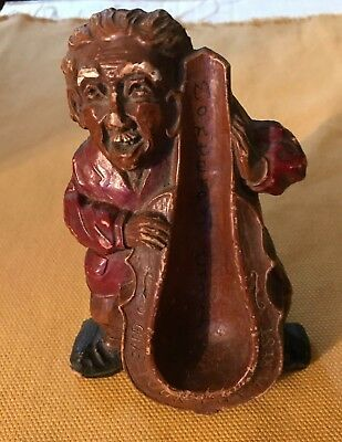"Antique Pipe Rest/Holder---Bass Fiddle """"Give Your Pipe a Rest""  Monterey Calif"